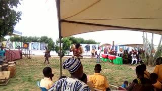 Ancestral wall in Ghana: Agbeko dance